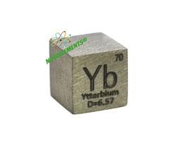 Ytterbium metal density cube 99.95% 10mm