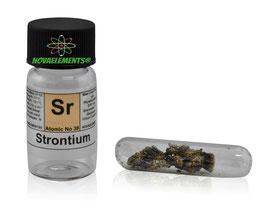 Strontium metal 99.95% 1 gram crystals oxide free under argon