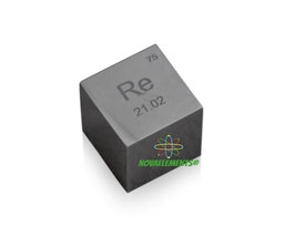 Rhenium metal density cube 99.99%