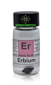 Erbium metal 1 gram 99,95% in glass vial