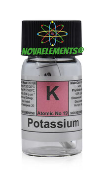 Potassium metal 1 gram 99% argon sealed