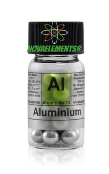 Aluminium metal shiny big spheres 99,99%  various weights