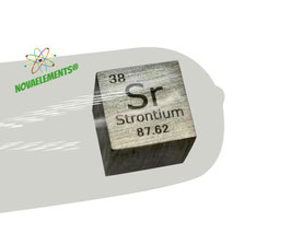 Strontium metal density cube 99.5% 10mm