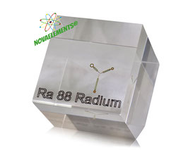 Radium sample acrylic cube
