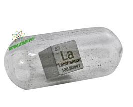 Lanthanum metal density cube 99.9% 10mm argon