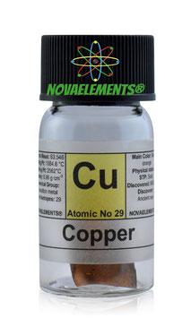 Copper metal foil 2x1cm 99,9%