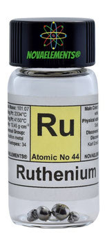 Ruthenium metal 99,99% pellet 0,5 gram in glass vial