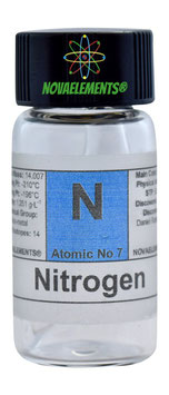 Nitrogen gas mini ampoule in vial 99,9%