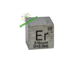 Erbium metal density cube 99.95% 10mm