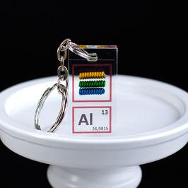 Aluminium metal keychain