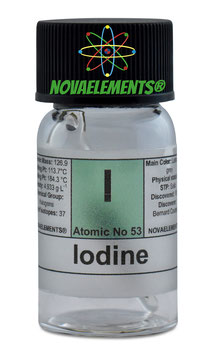 Iodine pellets sealed ampoule and vial 99.9% pure 2-3 grams
