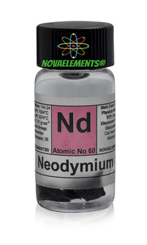 Neodymium metal 99,9% 1 gram in glass vial