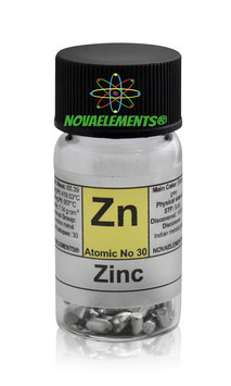 Zinc metal shiny shots 5 grams 99.99%