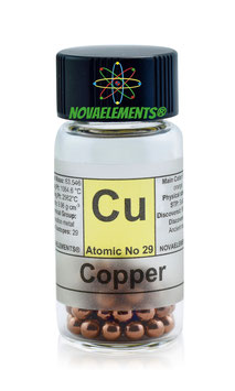 Copper metal pellets 10 grams 99,99%