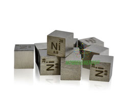 Nickel metal density cube 99.99%