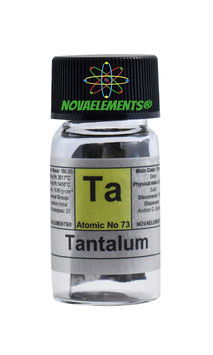 Tantalum metal BIG FOIL 99,99% fulfilled vial