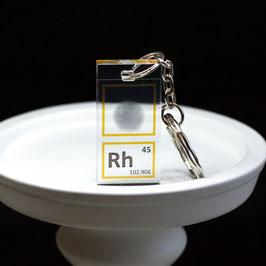 Rhodium metal keychain