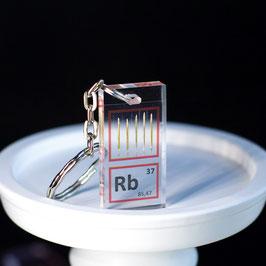 Rubidium metal keychain