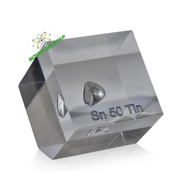 Tin metal 99.99% acrylic cube