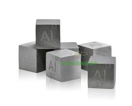Aluminium metal density cube 99.99%