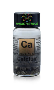 Calcium metal 3 grams 99,95% under mineral oil