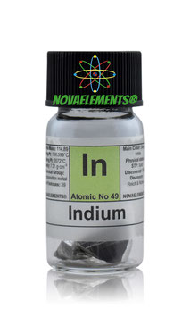 Indium metal shiny 5 grams 99.95%
