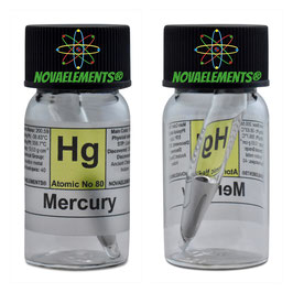 Mercury metal 99.99% small sample in sealed ampoule