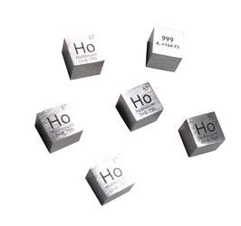 Holmium metal density cube 99.95% 10mm
