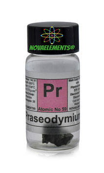 Praseodymium metal 99,9% 1 gram in glass vial