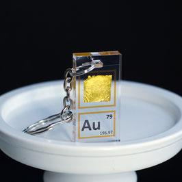 Gold foil keychain