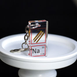 Sodium metal keychain