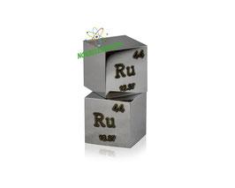 Ruthenium metal density cube 99.9% polished surface