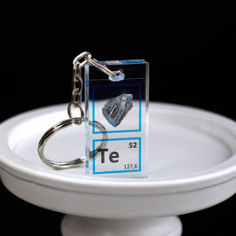 Tellurium crystal keychain