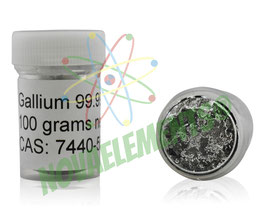 Gallium metal 100 grams 99.997% bottle