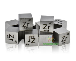Zirconium metal density cube 99.99% polished surface