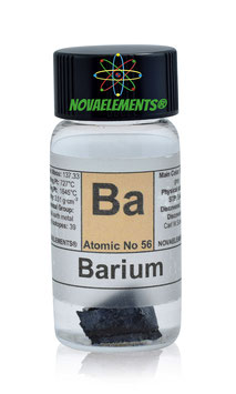 Barium metal pieces 1 gram 99,8% glass vial
