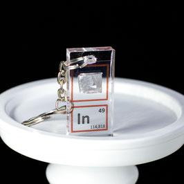 Indium metal keychain