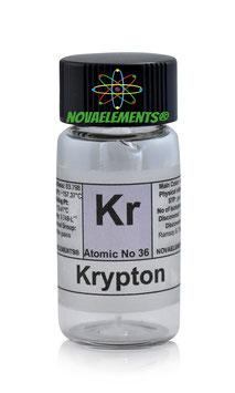 Krypton gas ampoule 99,9% standard pressure