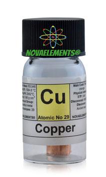 Copper metal rod >8 grams 99,99%