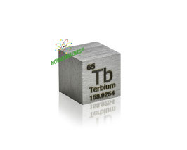 Terbium metal density cube 99.9% 10mm
