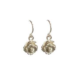 Roosjes oorbellen zilver