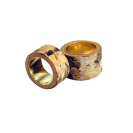 Berkenbast ring zilver
