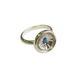 Knoopjes ring groot - blauw