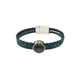 Leren armband met 3 bandjes