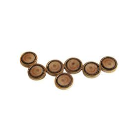 Cirkel broche met hout