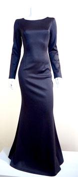 bodenlanges Kleid eng geschnitten mit Tulpenrock