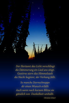 """""""Der Horizont... """"Text C. Scharf"""