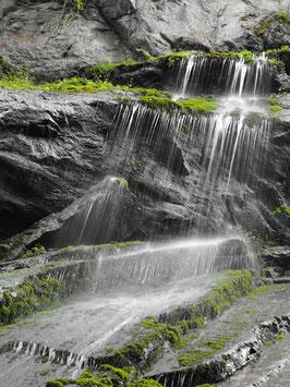 Wasserfall Bild II sw/green