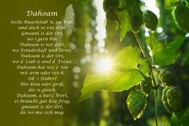 """Dahoam"" Sonnenaufgang"