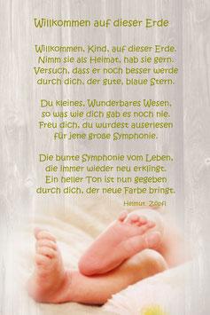 """Zur Geburt & Taufe """"Babyfüße"""""""